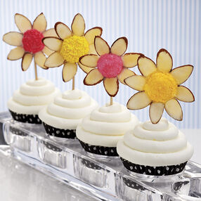 Sliced Almond Marshmallow Flower Treats