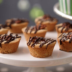 Salted Turtle Cookie Cups