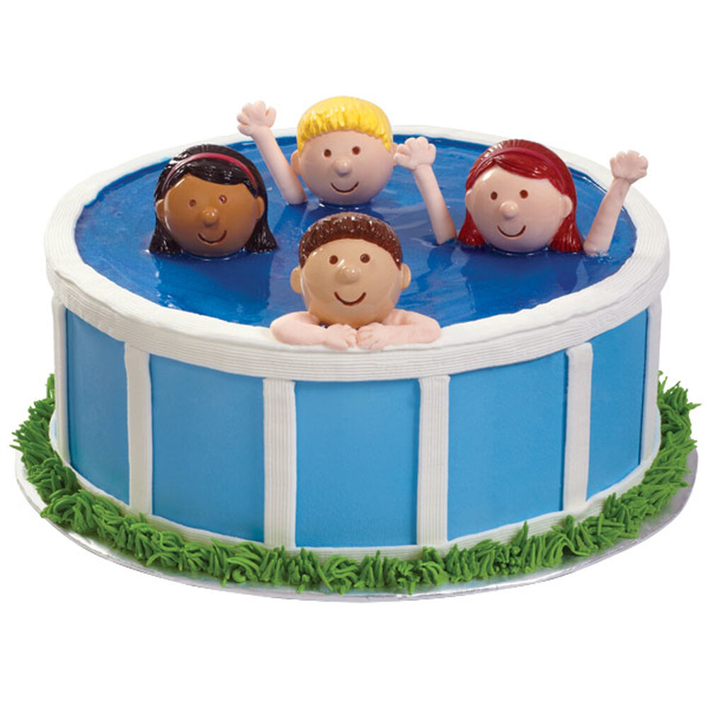 Heads Up In The Pool Cake Wilton