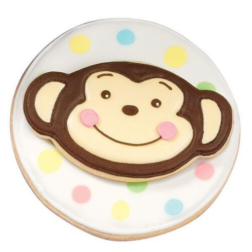 Chipper Chimp Baby Shower Cookies