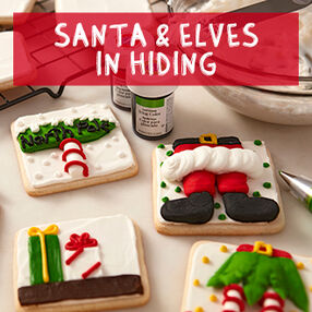 Santa and Elves in Hiding Cookies Class