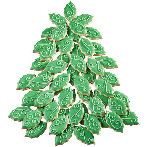 Holly Swirl Cookie Tree