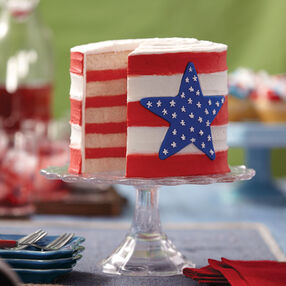 Layered Flag Cake