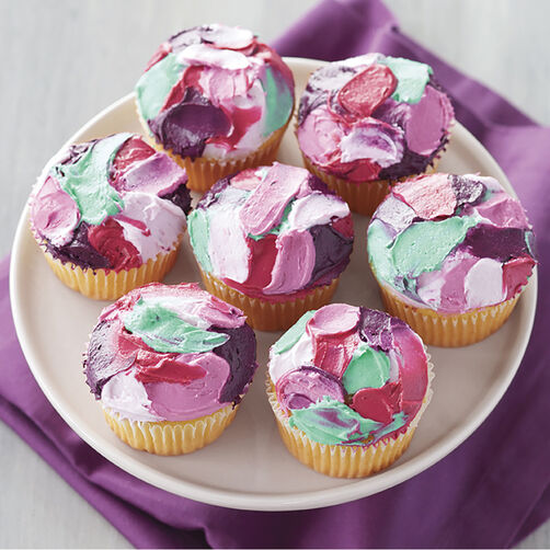 Artsy Painted Cupcakes