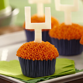 Football Cupcakes With Candy Goal Posts