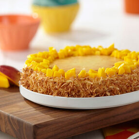 Coconut Mango Cheesecake