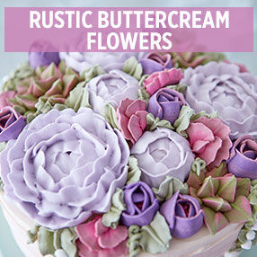Rustic Buttercream Flowers
