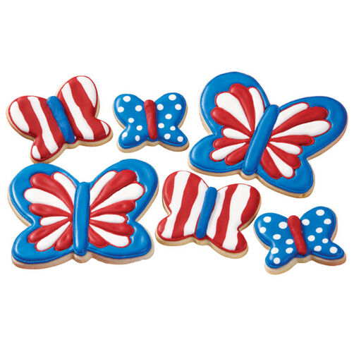4th of July Butterfly Cookies
