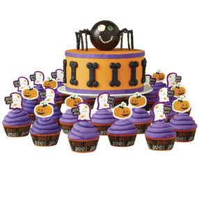 Spider Celebration Halloween Cake and Cupcakes