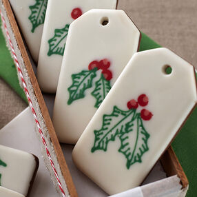 Holly Candy Bark Gift Tags