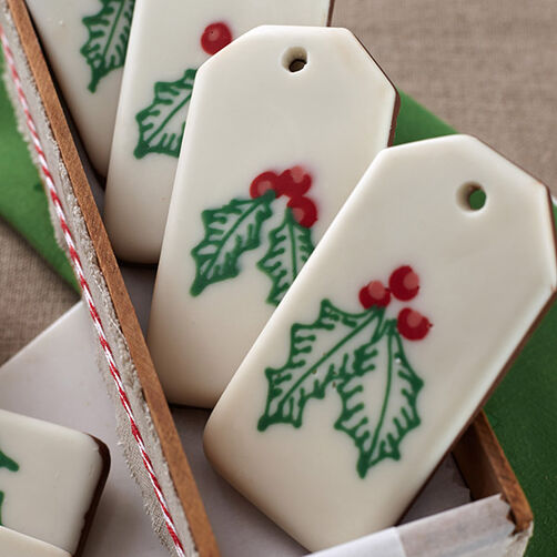 Holly Candy Bark Gift Tags Wilton