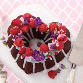 Valentine's Day Heart Chocolate Pound Cake