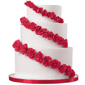 American Beauty Rows Cake