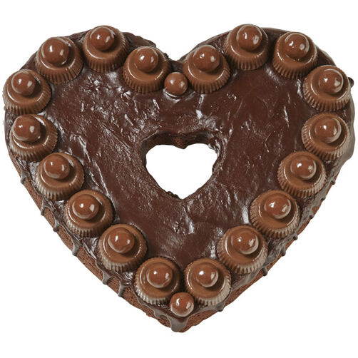 Chocolate Delight Heart Brownie