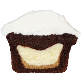 Adding a Mini Cheesecake to the Center of a Cupcake