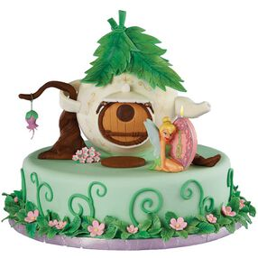 Tinker Bell's Teapot Townhouse Cake