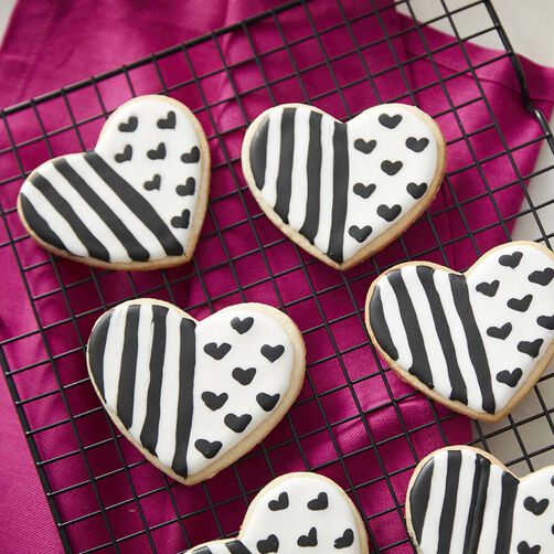 Black and White Heart Cookies