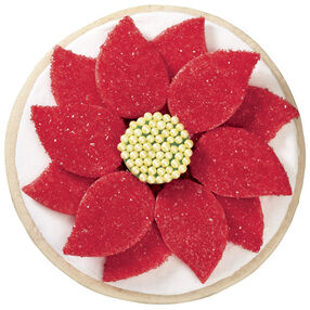 Poinsettia Pinwheel Cookies for Christmas