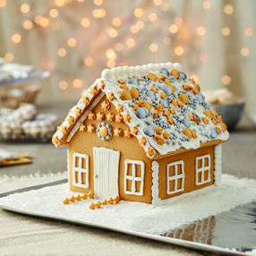 Bling at the Holidays Gingerbread House