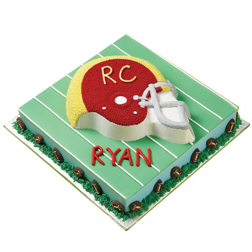 He's a Heads-Up Player! Cake