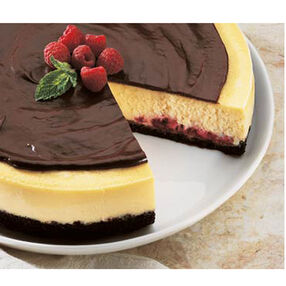 Raspberry Fudge Cheesecake