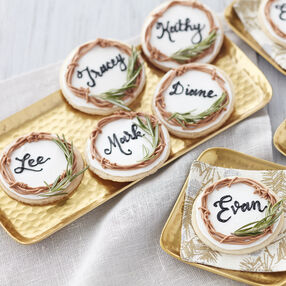 Rosemary and Lemon Holiday Place Card Cookies