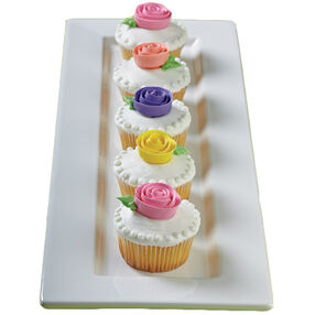 Blooming Ribbon Rose Cupcakes