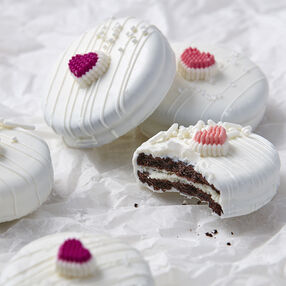 Valentine's Day Candy Dipped Sandwich Cookies