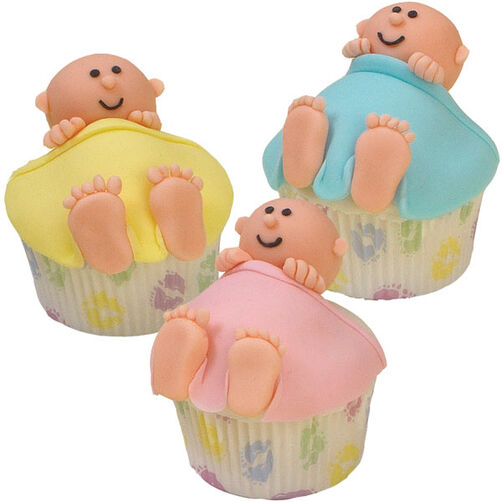 crib cuddlers baby shower cupcakes - Decorating Baby Shower Cupcakes