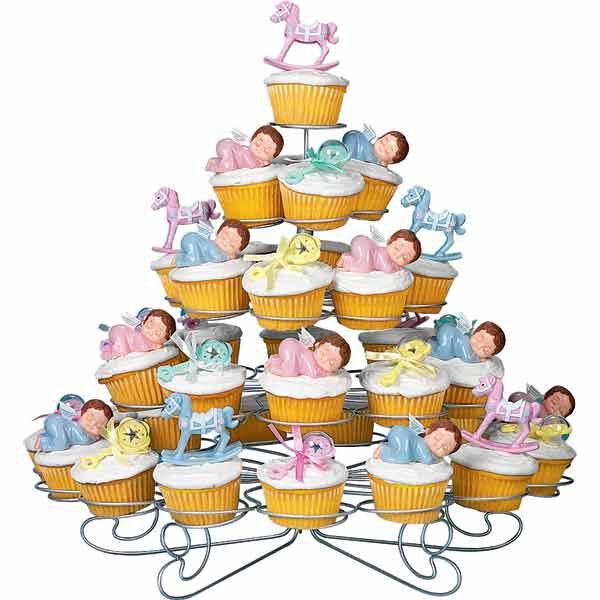 Wilton Baby Shower Cakes Part - 22: Baby Shower Cupcakes Zoom