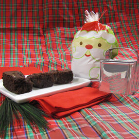 Cocoa Mint Brownies in a Treat Bag