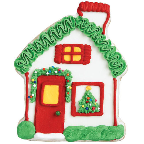 Red Door Retreat Gingerbread House Cookie