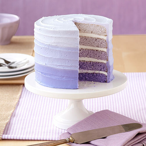 Five Shades Of Violet Easy Layers Cake Wilton