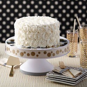 Pure White Rosette Wedding Cake