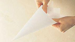 Folding Parchment Triangles