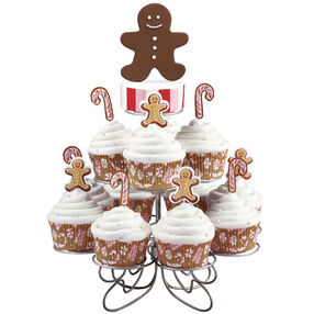 Jolly Gingerbread Holiday Cupcakes