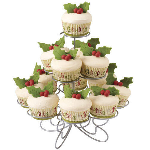 Christmas cupcakes decked with holly wilton