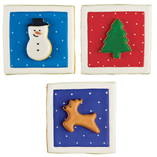 Season's Greeting Cards Cookies