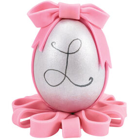 Silver Monogram Easter Egg