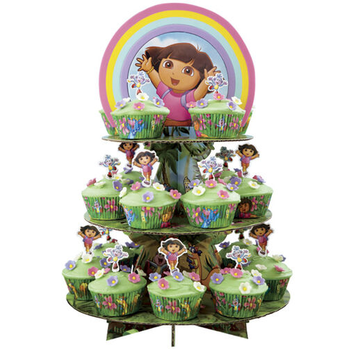 Dora?s Rainbow Mountain Cupcake Display
