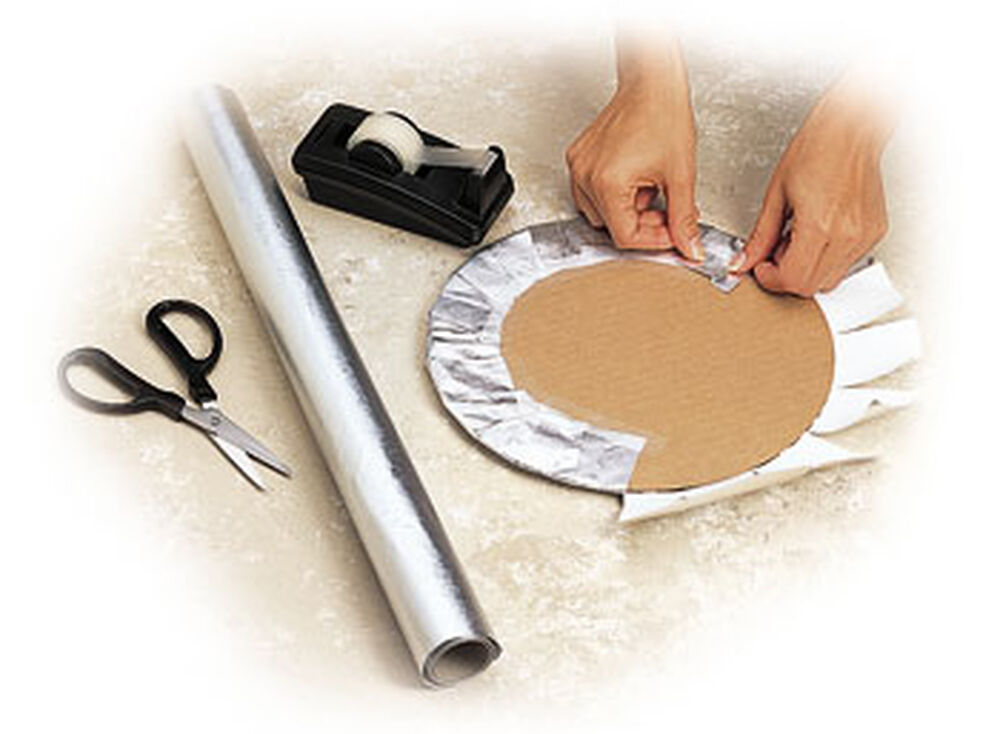 Covering A Cake Board With Foil