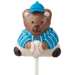 Baseball Bear Cake on a Stick