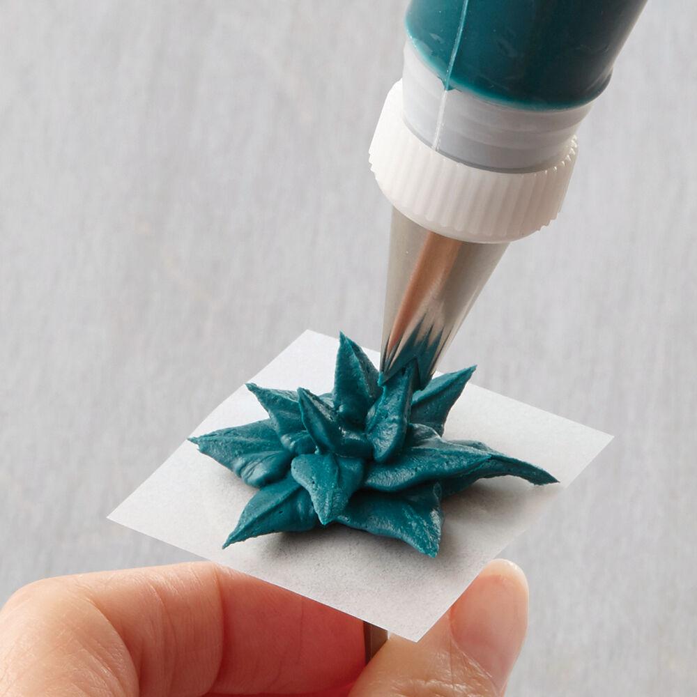 How To Pipe A Leafy Succulent Wilton