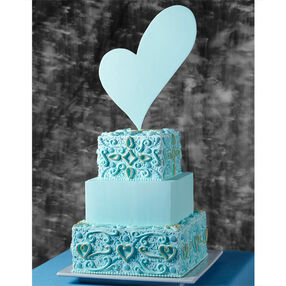 Blue Symmetry Wedding Cake