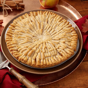 Apple Pie with Fringe Crust