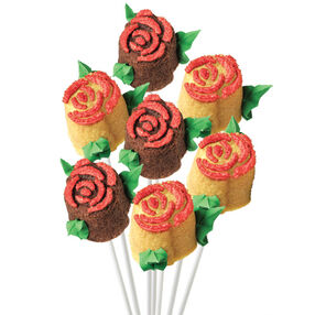Mini Rose Bouquet Cake on a Stick