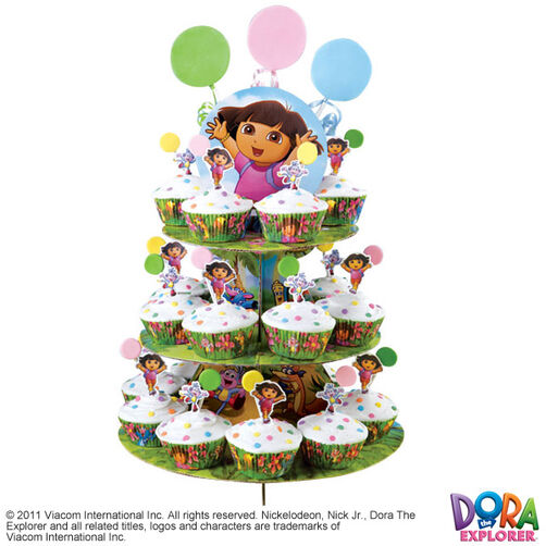 Dora Cheers for You! Cupcake Tower