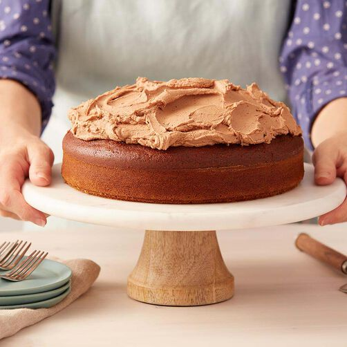 Gingerbread Cake with Mocha Buttercream Frosting