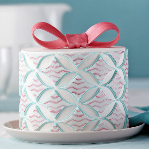 Diamond Designs Geometric Fondant Cake