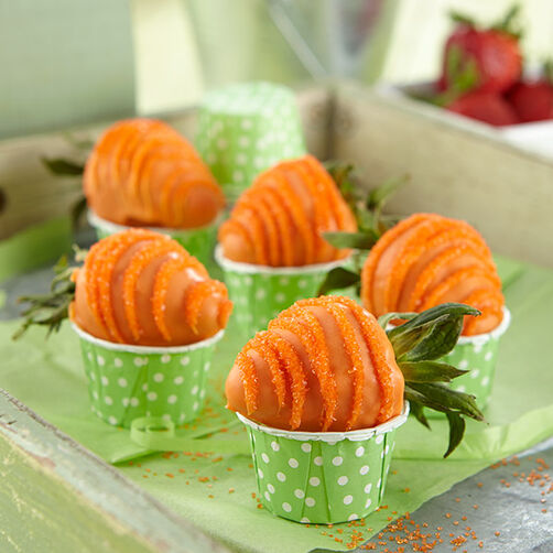 Easter Carrots Candy-Coated Strawberries